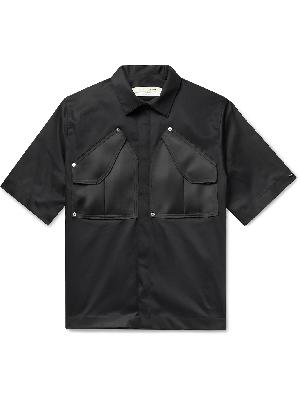 1017 ALYX 9SM - Satin-Panelled Cotton-Blend Poplin Shirt