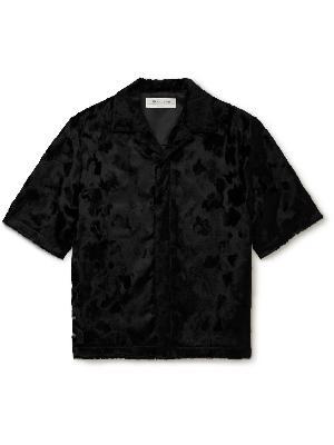 1017 ALYX 9SM - Camp-Collar Faux Pony Hair Shirt