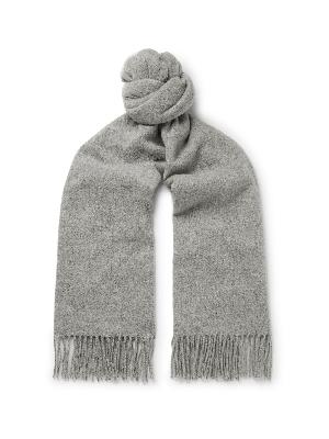 Acne Studios - Canada Narrow Fringed Mélange Wool Scarf