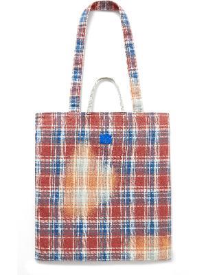 Acne Studios - Printed Checked Cotton-Flannel Tote Bag