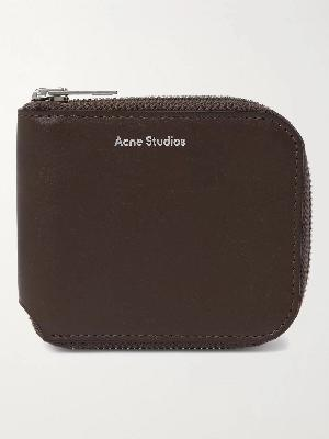 Acne Studios - Logo-Print Leather Zip-Around Wallet
