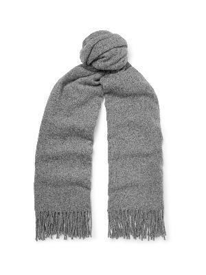 Acne Studios - Fringed Mélange Wool Scarf