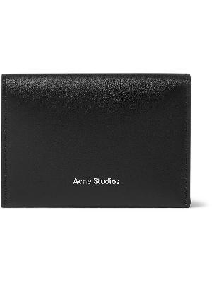Acne Studios - Logo-Print Leather Billfold Wallet