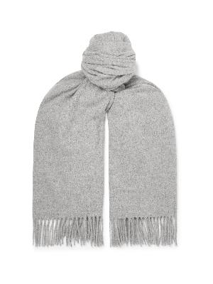 Acne Studios - Oversized Fringed Melangé Wool Scarf