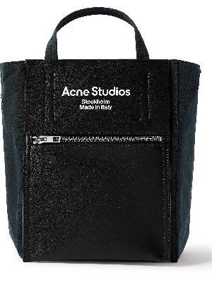 Acne Studios - Baker Out Mini Logo-Print Leather and Nylon Tote Bag