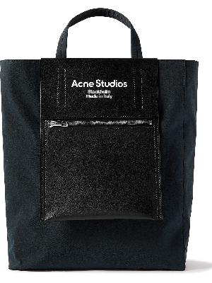 Acne Studios - Baker Out Logo-Print Leather and Nylon Tote Bag