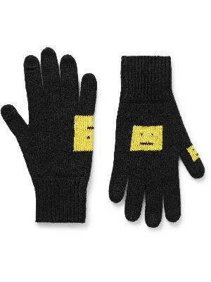 Acne Studios - Logo-Intarsia Wool-Blend Gloves
