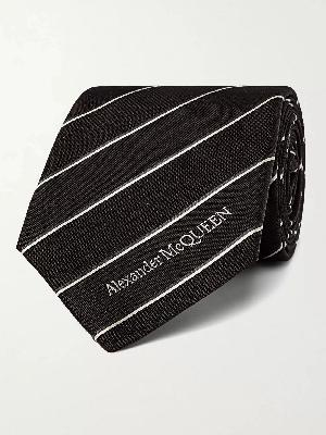 Alexander McQueen - 7cm Striped Silk Tie
