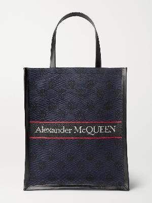Alexander McQueen - Logo-Jacquard Leather Tote Bag