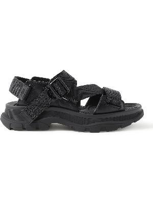Alexander McQueen - Webbing-Trimmed Leather Sandals