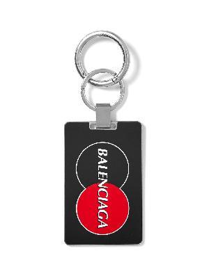 Balenciaga - Logo-Print Silver-Tone Key Fob