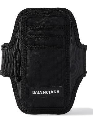 Balenciaga - Explorer Logo-Appliquéd Recycled Nylon Armband Phone Case