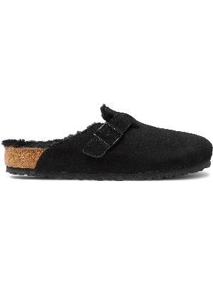 Birkenstock - Boston Shearling-Lined Suede Sandals
