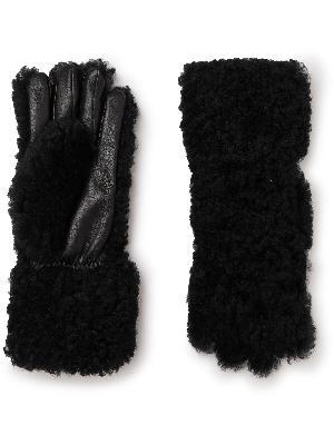 Bottega Veneta - Shearling and Leather Gloves