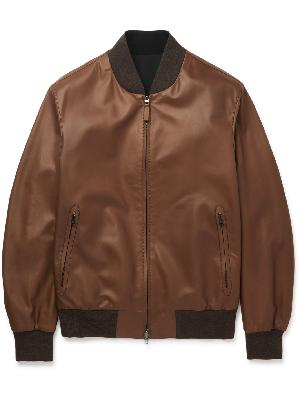 BRIONI - Reversible Leather and Shell Bomber Jacket