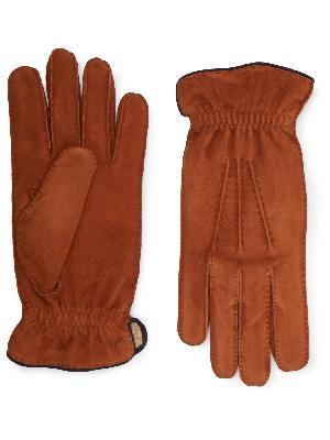 Brunello Cucinelli - Cashmere-Lined Suede Gloves