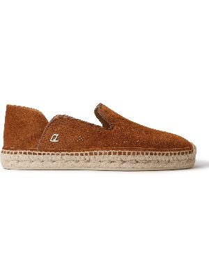 Christian Louboutin - Perforated Suede Espadrilles