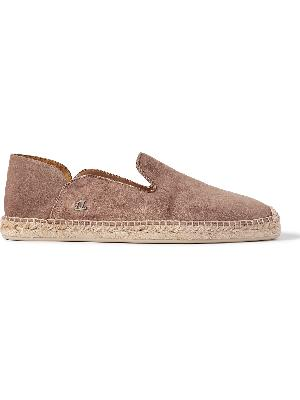Christian Louboutin - Collapsible-Heel Suede Espadrilles