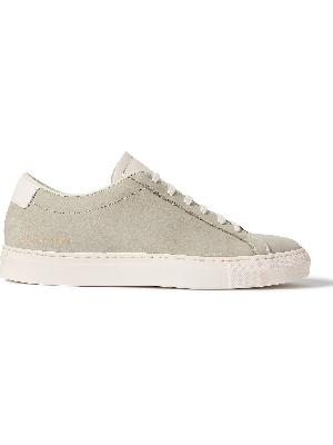 COMMON PROJECTS - Original Achilles Leather-Trimmed Nubuck Sneakers