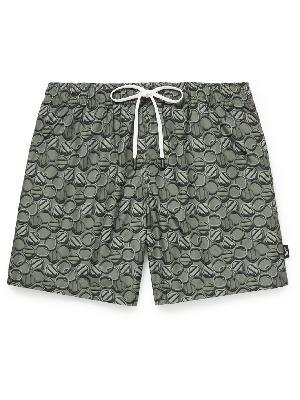 Ermenegildo Zegna - Mid-Length Printed Swim Shorts