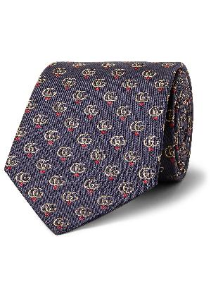 Gucci - 7.5cm Logo-Jacquard Silk-Twill Tie