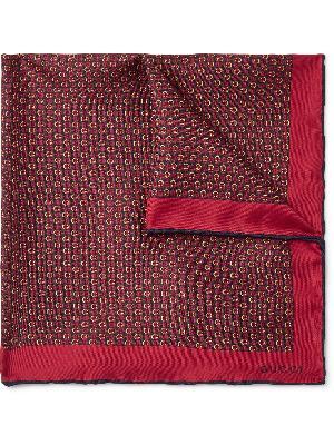 Gucci - Monogram-Print Silk-Twill Pocket Square
