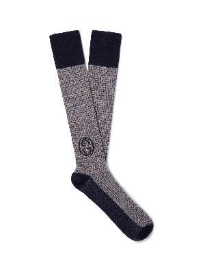Gucci - Wool-Blend Jacquard Socks