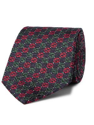Gucci - 7cm Logo-Jacquard Silk Tie