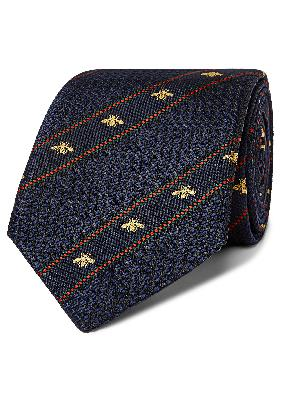 Gucci - 7cm Logo-Detailed Striped Silk-Jacquard Tie