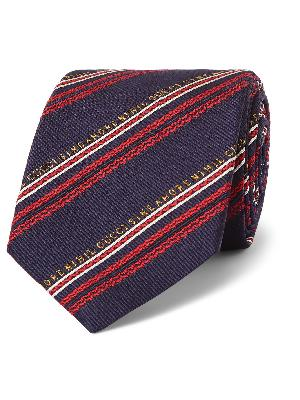 Gucci - 7.5cm Striped Silk and Wool-Blend Jacquard Tie
