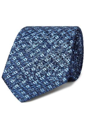 Gucci - 7.5cm Logo-Jacquard Silk Tie
