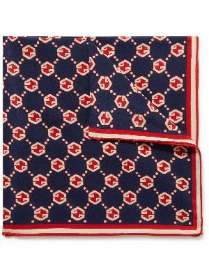 Gucci - Logo-Print Silk Crepe de Chine Pocket Square