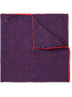 Gucci - Logo-Print Silk-Twill Pocket Square
