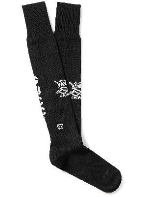 Gucci - Logo-Intarsia Stretch Cotton-Blend Socks