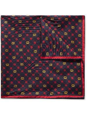 Gucci - Printed Silk-Twill Pocket Square