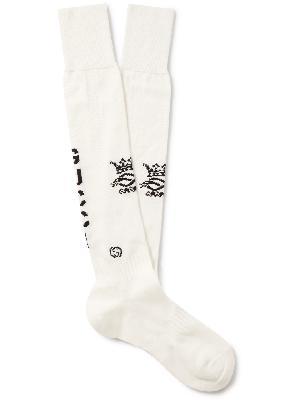 Gucci - Logo-Intarsia Cotton-Blend Socks