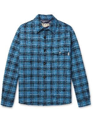 MARNI - Padded Checked Cotton and Virgin Wool-Blend Flannel Shirt Jacket