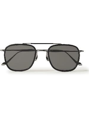 MATSUDA - Aviator-Style Ruthenium and Acetate Sunglasses