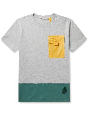 Moncler Genius - 1 Moncler JW Anderson Logo-Appliquéd Colour-Block Cotton-Jersey T-Shirt