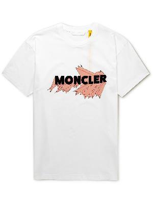 Moncler Genius - 2 Moncler 1952 Logo-Flocked Printed Cotton-Jersey T-Shirt