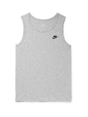 Nike - Logo-Embroidered Cotton-Jersey Tank Top