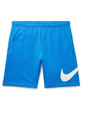Nike - Sportswear Club Logo-Print Cotton-Blend Jersey Shorts