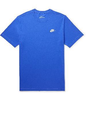 Nike - Sportswear Club Logo-Embroidered Cotton-Jersey T-Shirt