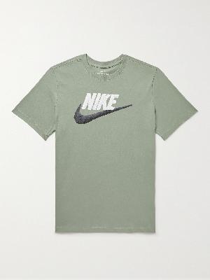 Nike - Sportswear Logo-Print Cotton-Jersey T-Shirt