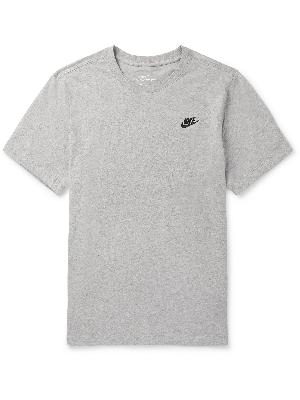 Nike - Logo-Embroidered Mélange Cotton-Jersey T-Shirt