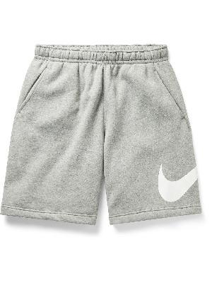 Nike - Logo-Print Fleece-Back Cotton-Blend Jersey Shorts