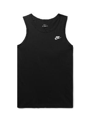 Nike - Sportswear Club Logo-Embroidered Cotton-Jersey Tank Top