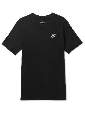 Nike - Logo-Embroidered Cotton-Jersey T-Shirt