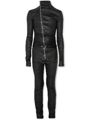 Rick Owens - Gary Stretch Leather and Cotton-Blend Jumpsuit