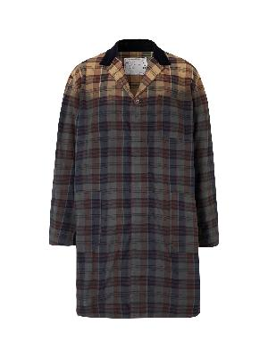 SACAI - Double-Faced Checked Cotton Trench Coat